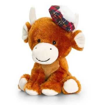 20cm Pippins Highland Cow By Keel Toys