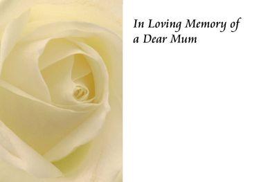 n Loving Memory of a Mum Greetings Card