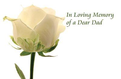 In Loving Memory of a Dad Sympathy Card