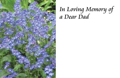 In Loving Memory of a Dad Forget me not Sympathy Card