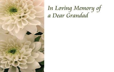In Loving Memory of a  Grandad Sympathy Card