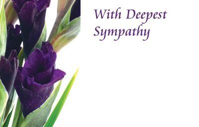With Deepest Sympathy Gladioli Sympathy Cards
