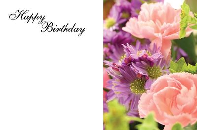 Happy Birthday Bouquet Greeting Cards