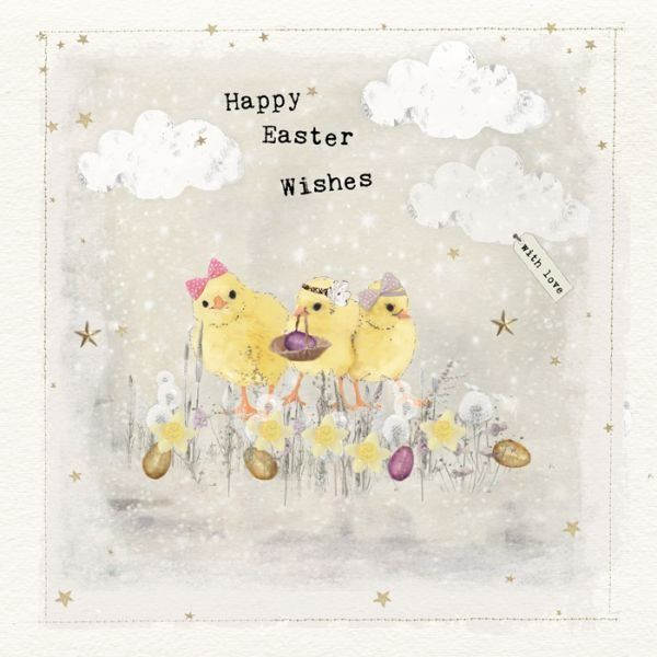 Easter Greeting Card - Chicks