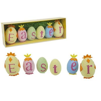 Polyfoam Easter Egg Text Decoration In Window Box