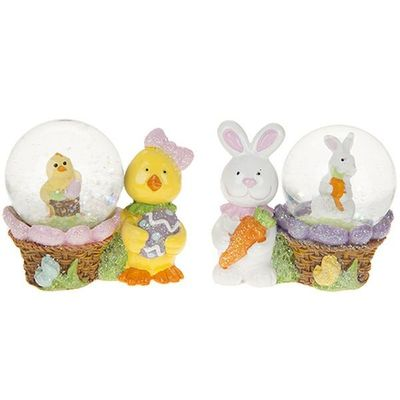 2 Assorted Easter Waterballs 45mm  With Character In 12pc Pdq