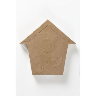Bird House. H: 18 Cm. Depth 2.5 Cm. 1 Pc