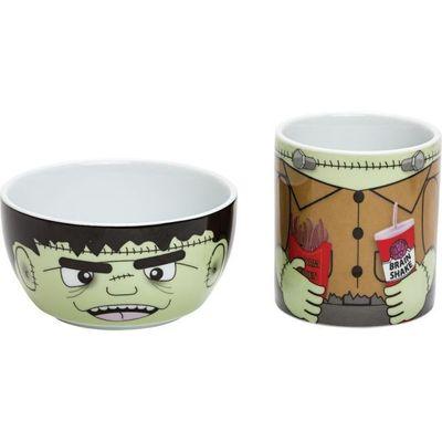 Hungry Heroes -F rankie Monster Bowl & Mug set By Suki Gifts