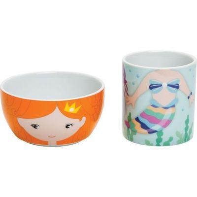 Hungry Heroes - Melody Mermaid Mug & Bowl set  By Suki Gifts
