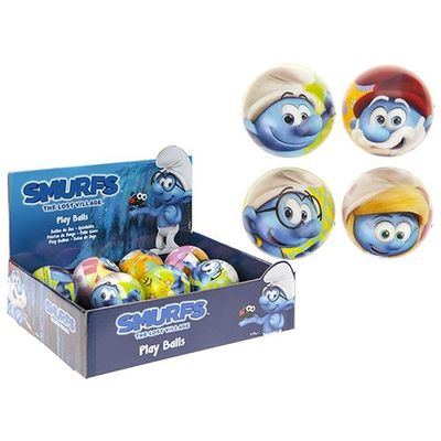 Smurfs 75mm Play Ball In 24 Piece Cdu  4 Assorted
