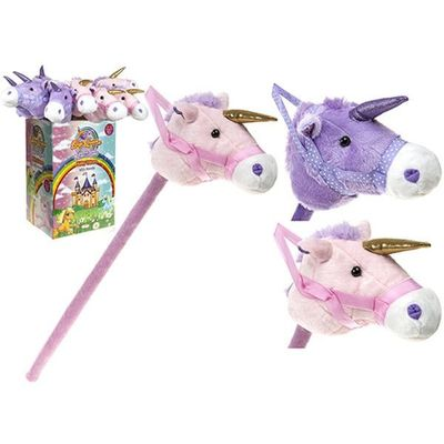 32 Inch Hobby Unicorn 2 assorted Colours    Plush With Sound Chip 12 pieces