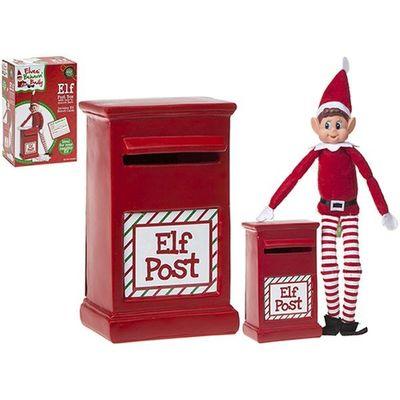 6 Inchh X 4 Inchw 2.5 Inchd Polystone Elf  Post Box In Pvc Coated Box
