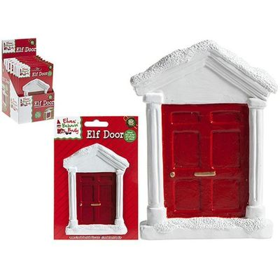 4.5x5 Inch Polystone Elf Door For  Pelmet On Blister Card  And  D Box