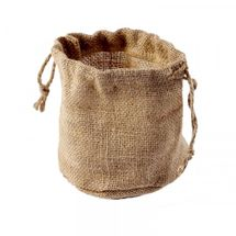 Lined Natural Hessian Pot Bag 12cm