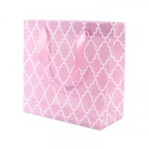 Pink PVC Cross Hatch Flower Bag