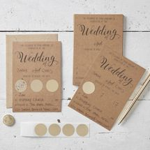 Kraft Scratch The Date Wedding Invitations - Scratch & Reveal