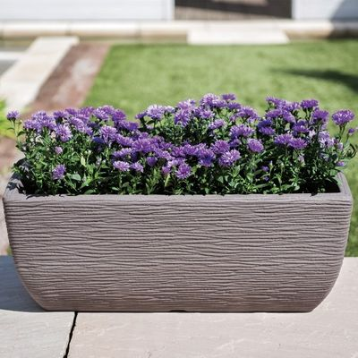 Stewart 60cm Cotswold Trough Planter - Dark Brown