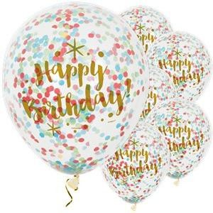 Glitz Gold Happy Birthday Confetti Balloon (6pk)