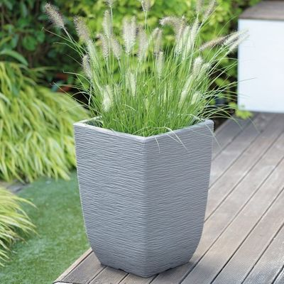 Limestone Grey Cotswold Planter 33cm Tall Square
