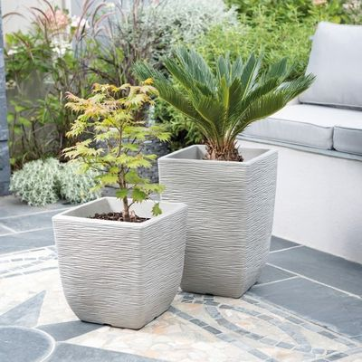 Limestone Grey Cotswold Planter 32cm Square