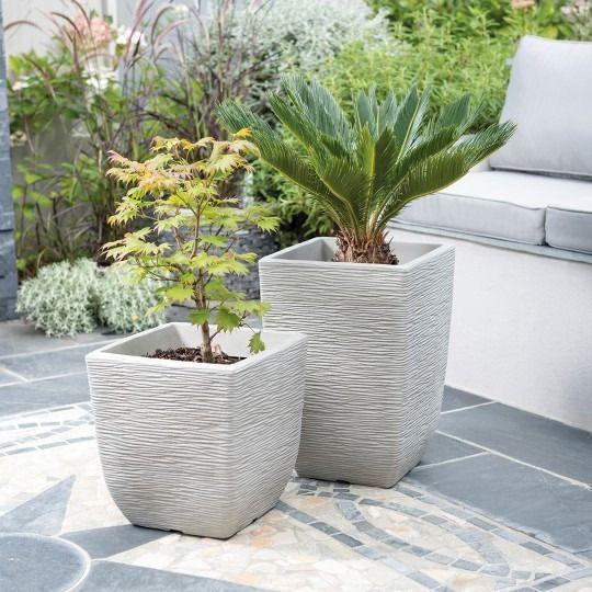 Limestone Grey Cotswold Planter 32cm Square