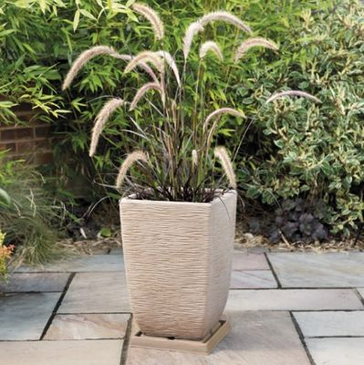 Light Sand Cotswold Planter 33cm Tall Square