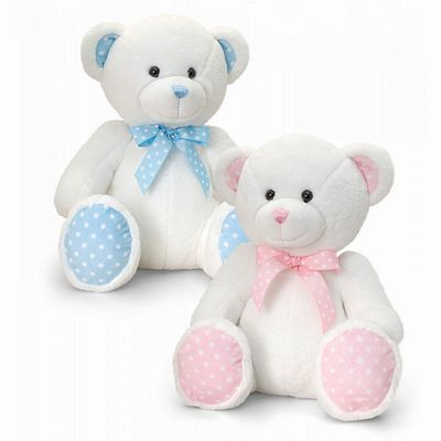 35cm Baby Spotty Bear Pink or Blue