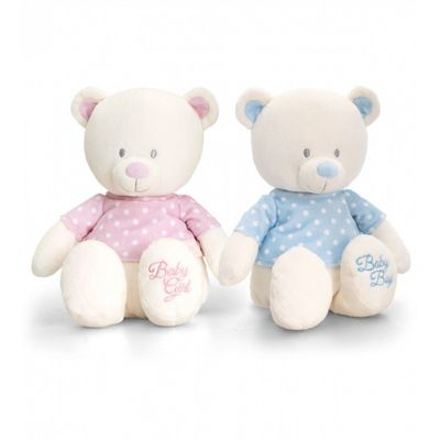 17cm Baby Girl or Boy Bear With T-shirt Soft Toy