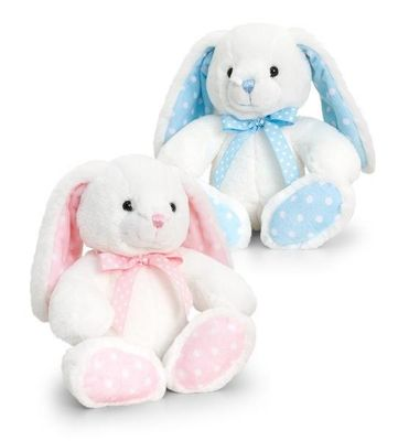 25cm Baby Spotty Rabbit Pink or Blue