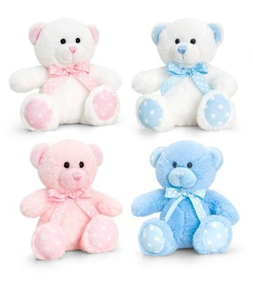 15cm Baby Spotty Bear Pink or Blue
