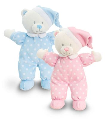 16cm Goodnight Baby Bear Pink or Blue