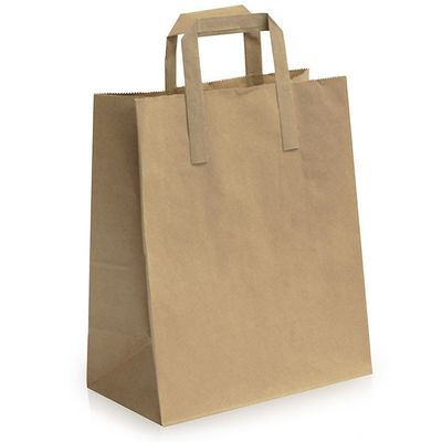 Small Brown Carrier Bags with Handles (25 pk)