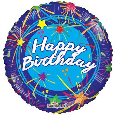 Happy Birthday Fireworks Balloon