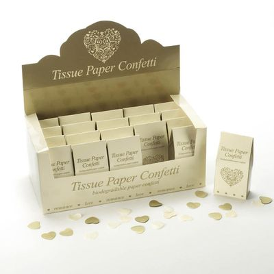 Ivory and Gold Tissue Confetti