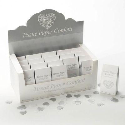 White and Silver Tissue Paper Confetti