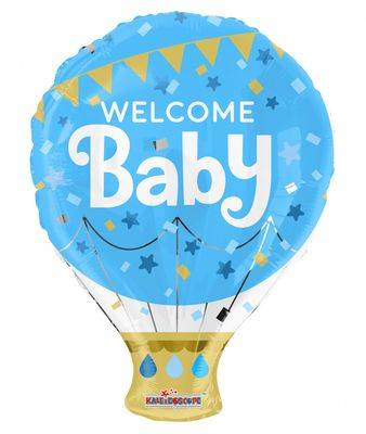 Blue Welcome Baby Hot Air Balloon