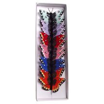 Assorted Feather Butterflies 2.75inch