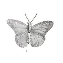 Silver Feather Butterfly 2.75inch