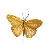 Gold Feather Butterfly 2.75inch