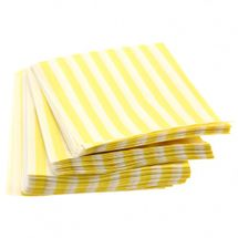 Small Yellow Candy Stripe Bags
