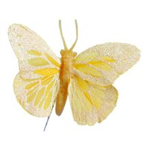 Yellow Feather Butterfly 2.75inch