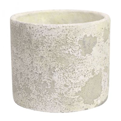 Rustic Round Cement Flower Pot 15cm
