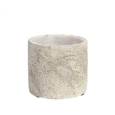 Rustic Round Cement Flower Pot 10cm