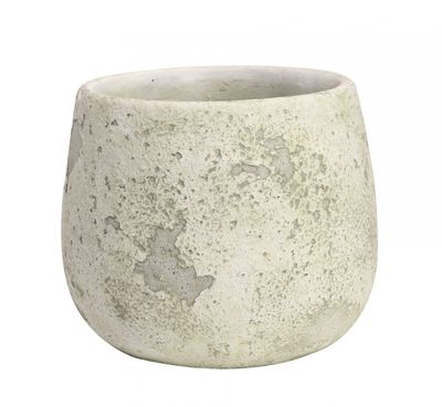 Rustic Bowl Cement Flower Pot 14.5cm