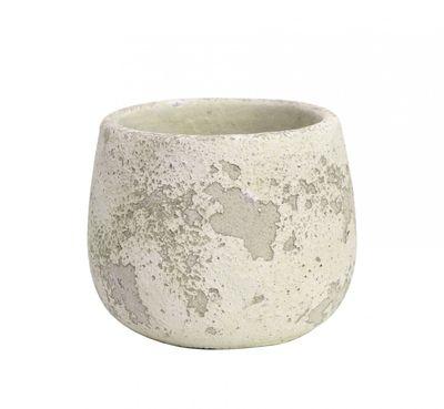 Rustic Bowl Cement Flower Pot 12cm