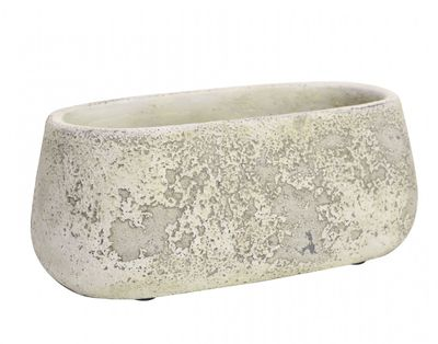 Rustic Trough Cement Flower Pot 10cm