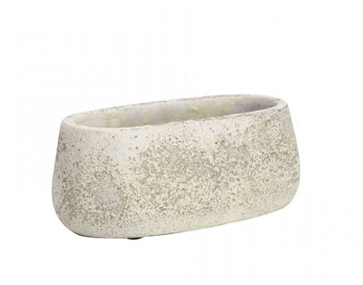 Rustic Trough Cement Flower Pot 8cm