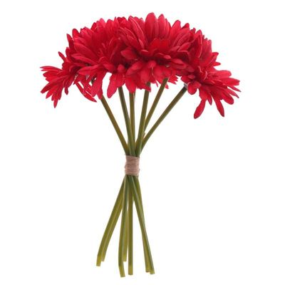 Red Gerbera Bunch