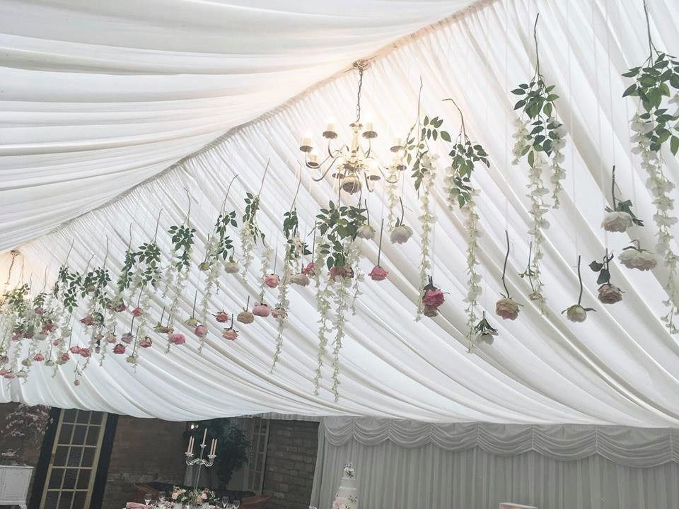 Hanging Silk Flowers - By GDC Weddings & Events