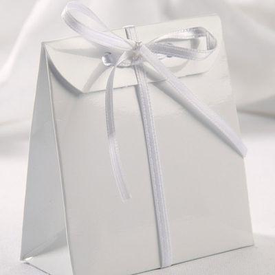 Glossy White Sacchetto Box